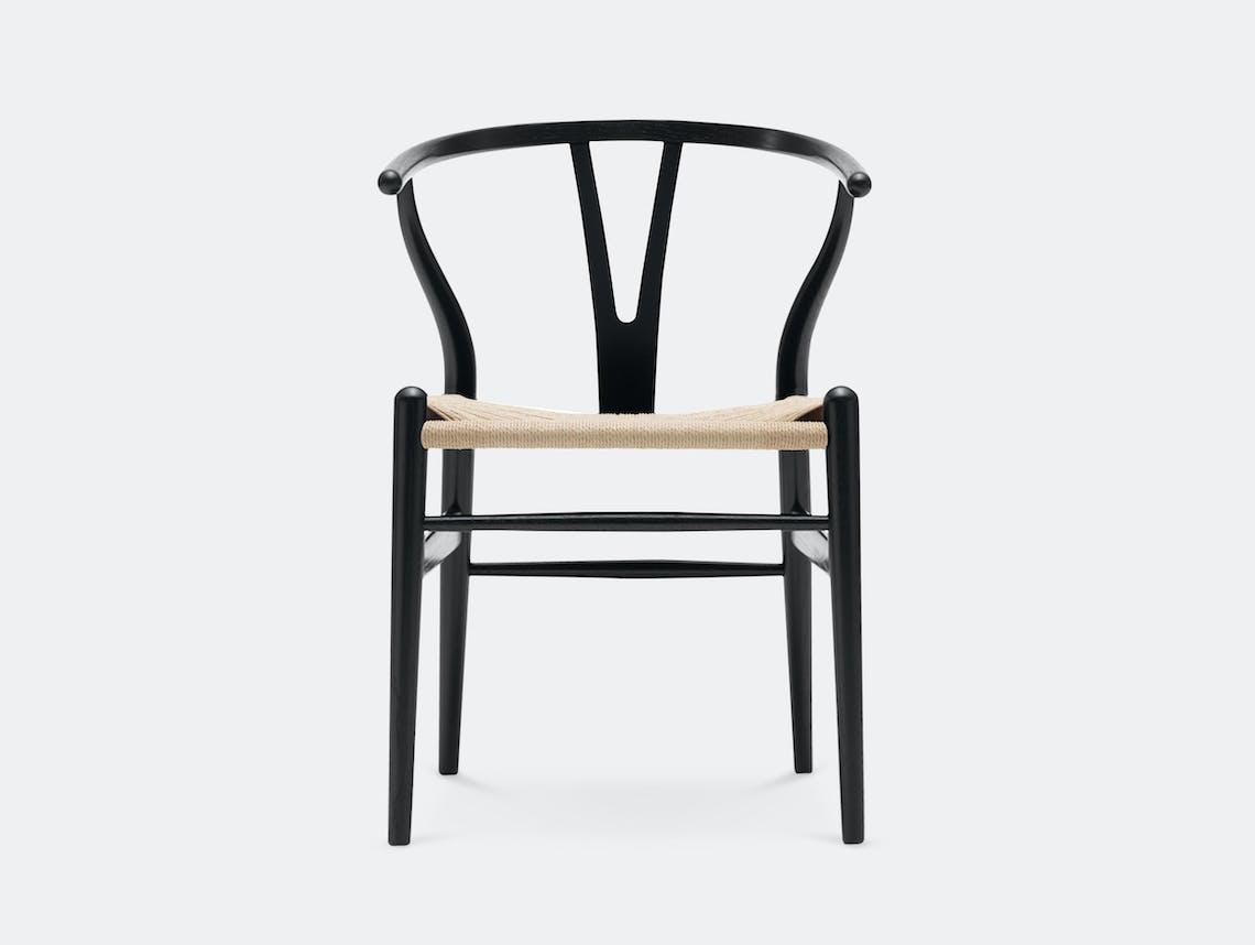 Carl Hansen CH24 Wishbone Chair Black Oak Natural Paper Cord Hans Wegner