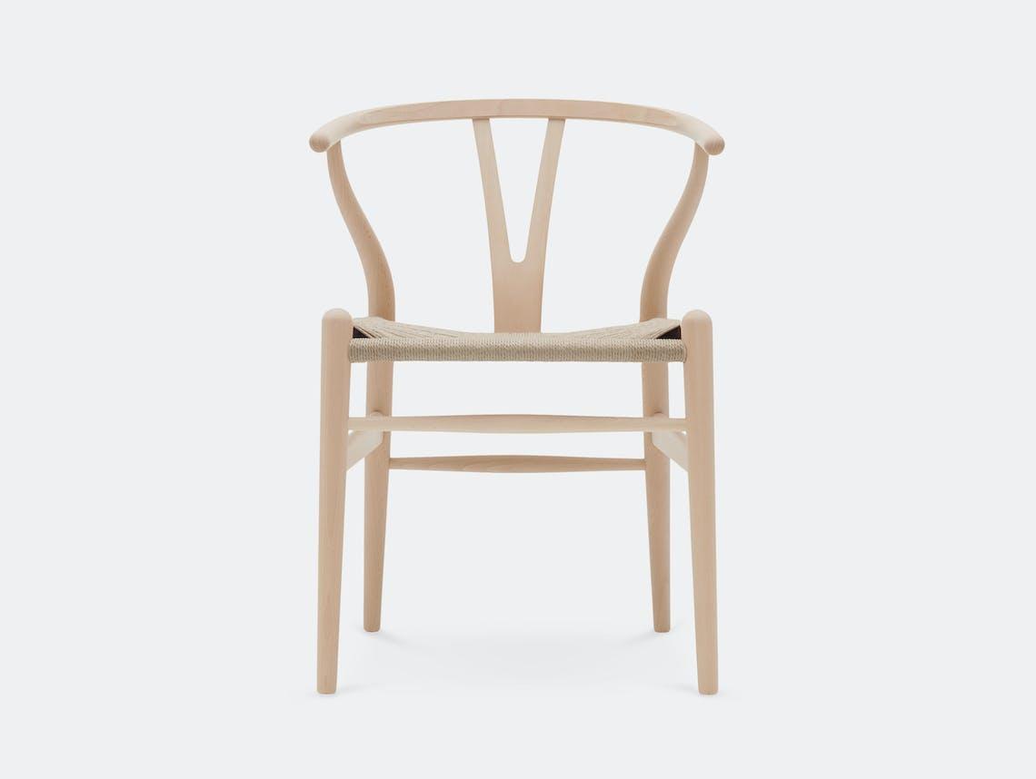 Carl Hansen CH24 Wishbone Chair Soaped Beech Hans Wegner