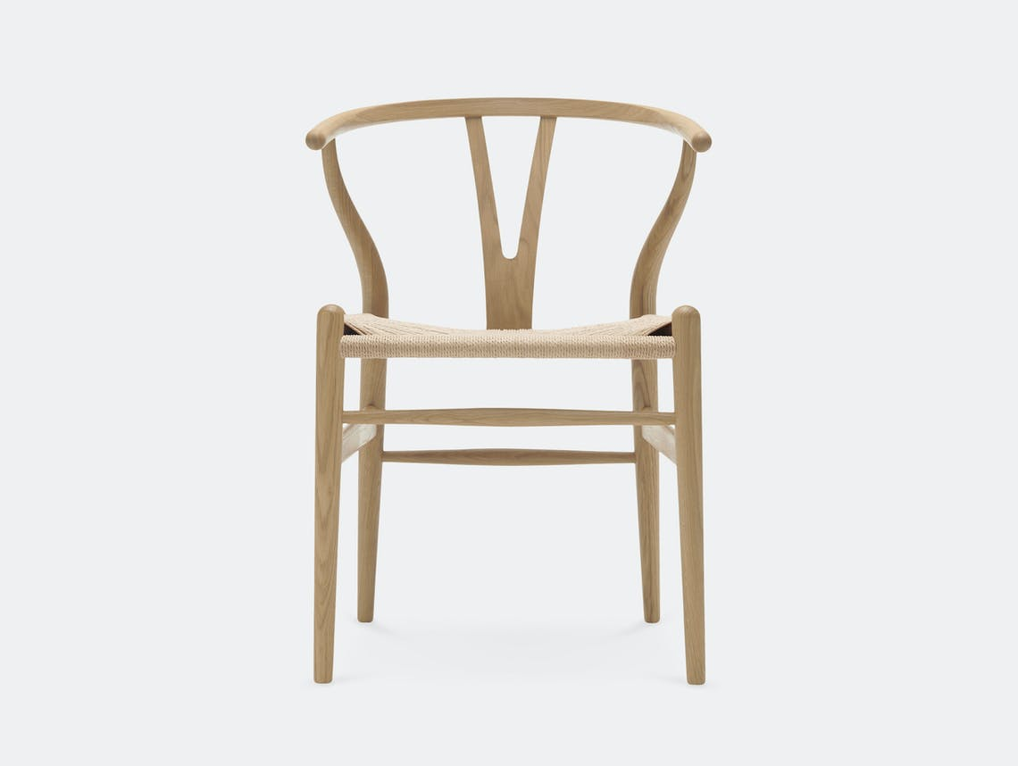 Carl Hansen CH24 Wishbone Chair Soaped Oak Hans Wegner