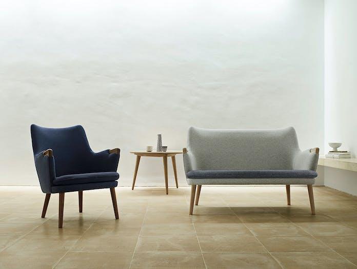 Carl Hansen Ch71 Lounge Chair Sofa Hans Wegner