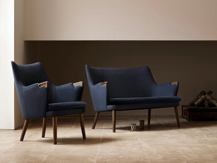 Carl Hansen Ch71 Lounge Chair Sofa Walnut Hans Wegner