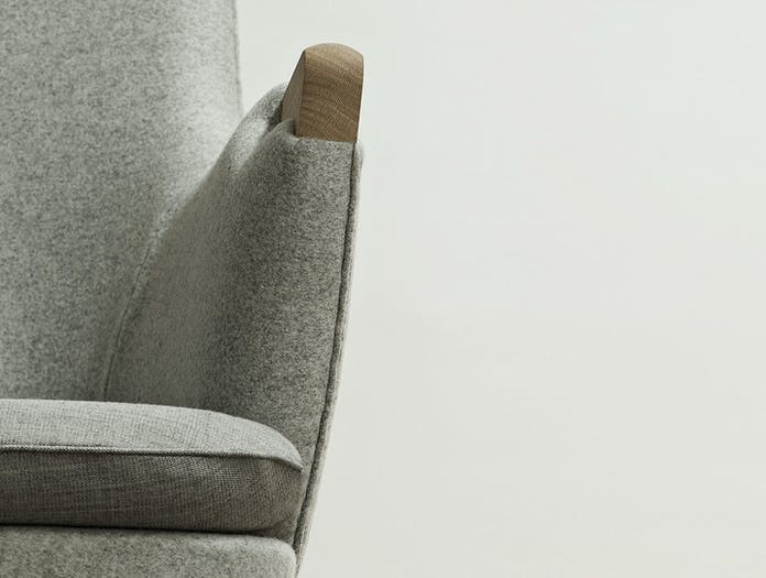 Carl Hansen Ch71 Lounge Chair Oak Arm Detail Hans Wegner