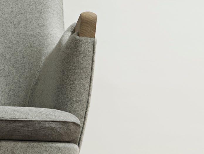 Carl Hansen Ch71 Lounge Chair Oak Arm Detail Hans Wegner