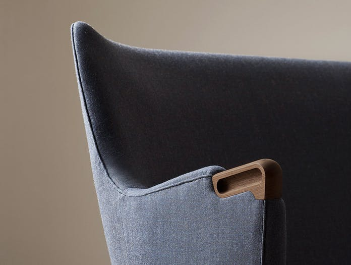 Carl Hansen Ch71 Lounge Chair Walnut Arm Detail Hans Wegner
