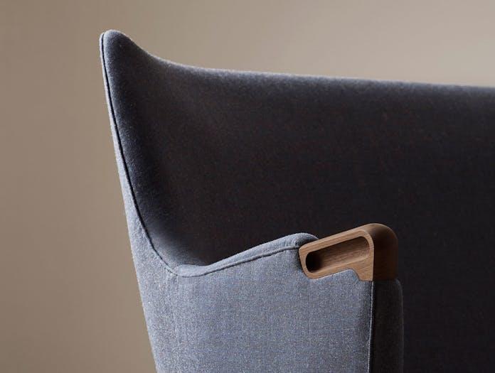 Carl Hansen Ch71 Lounge Chair Walnut Arm Detail Hans Wegner
