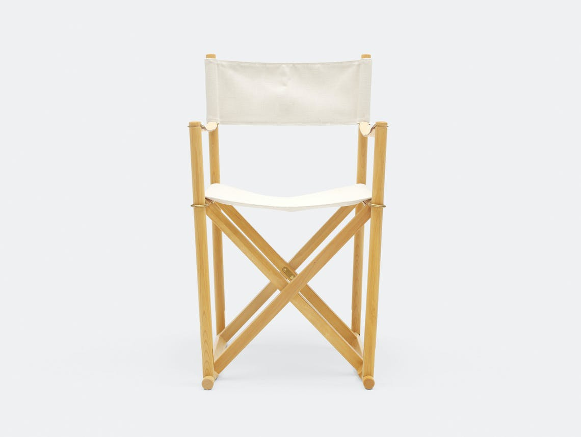 Carl Hansen Folding Chair beech white canvas Mogens Kock
