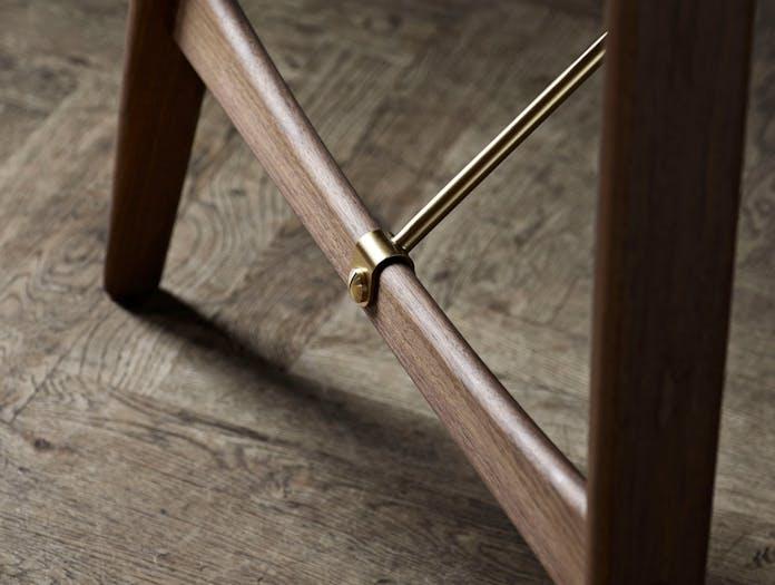 Carl Hansen Hunting Table Walnut Brass Detail Borge Mogensen
