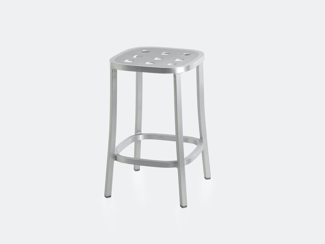 Emeco 1 Inch All Aluminium Counter Stool Jasper Morrison