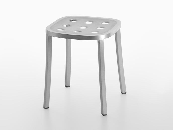 Emeco 1 Inch All Aluminium Small Stool 2 Jasper Morrison