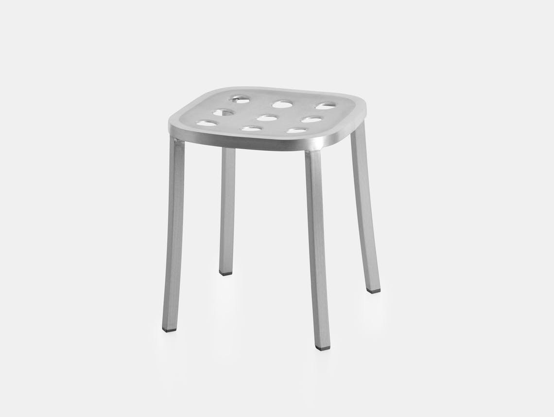 Emeco 1 Inch All Aluminium Small Stool Jasper Morrison