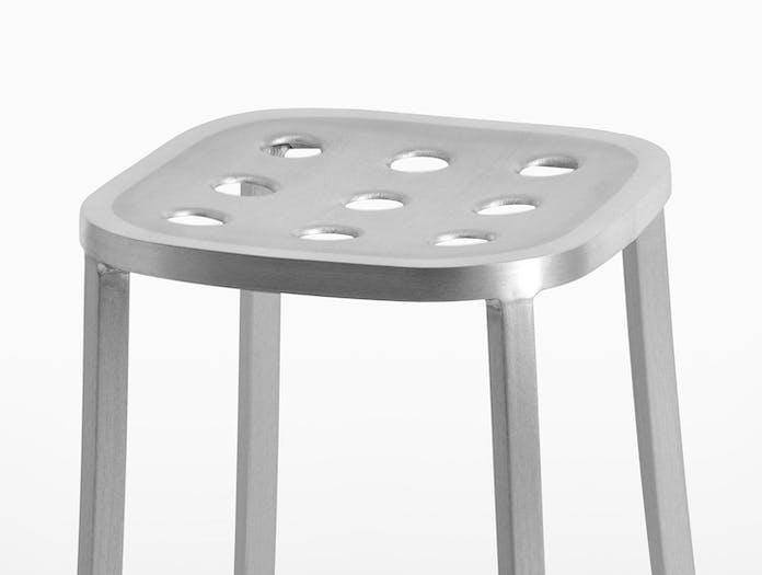 Emeco 1 Inch All Aluminium Stool detail Jasper Morrison
