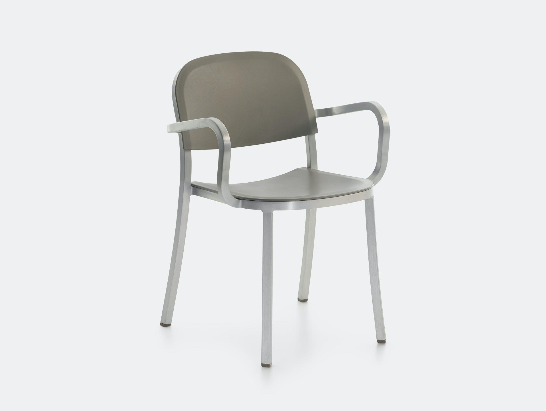 Emeco 1 Inch Armchair Aluminium Light Grey Jasper Morrison