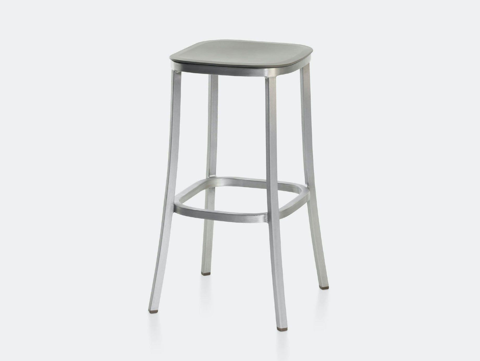 Emeco 1 Inch Barstool Aluminium Light Grey Jasper Morrison