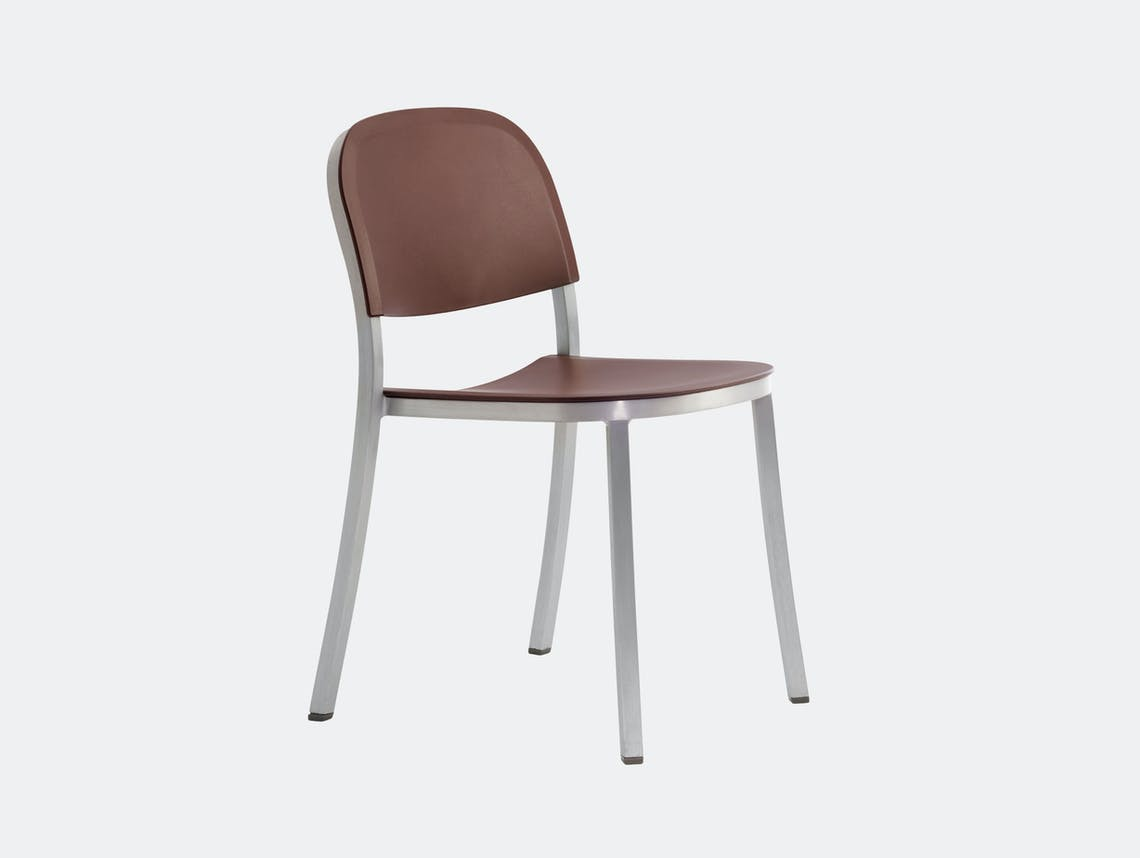 Emeco 1 Inch Chair Aluminium Brown Jasper Morrison