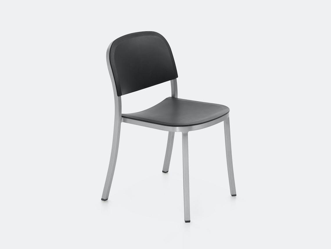 Emeco 1 Inch Chair Aluminium Dark Grey Jasper Morrison