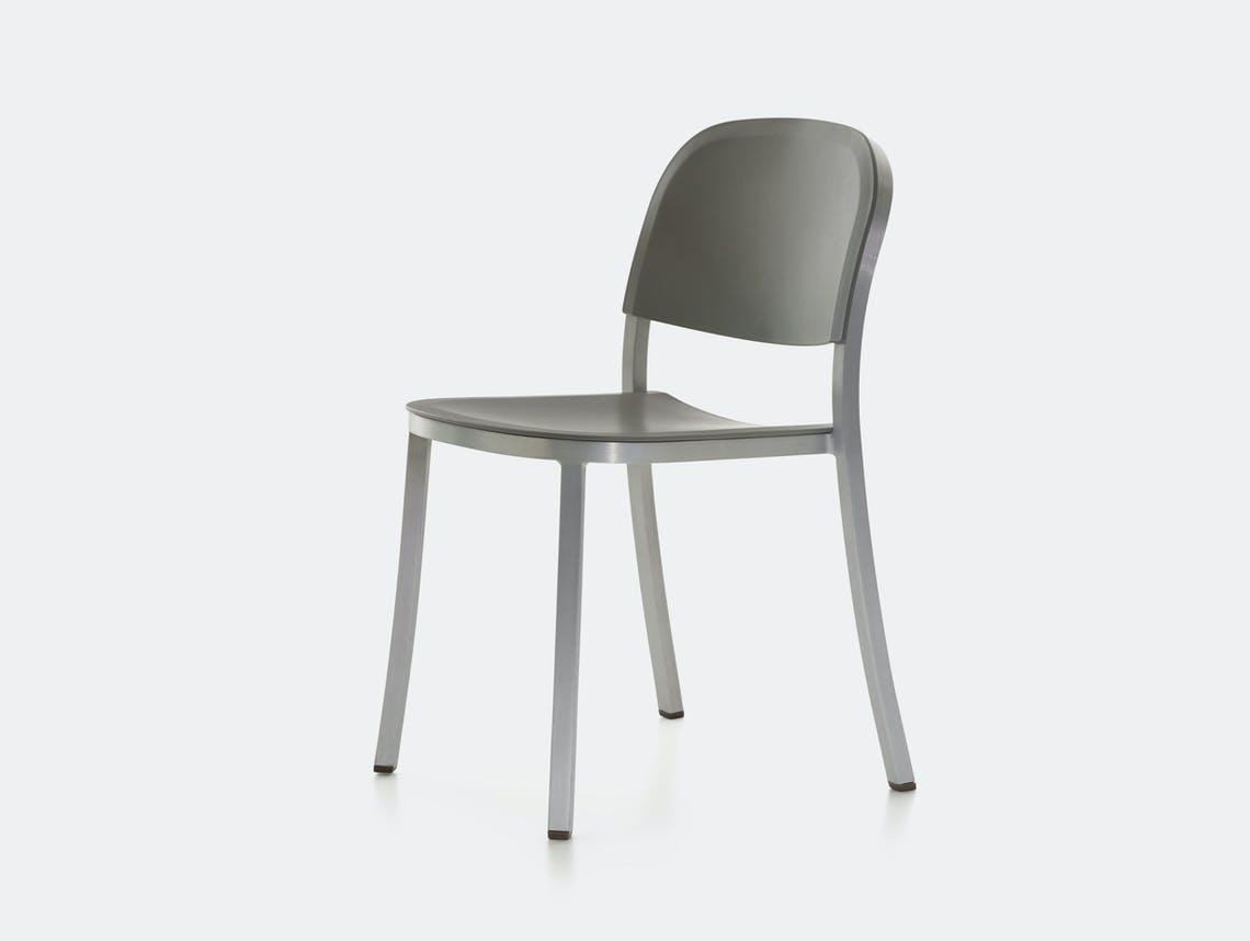 Emeco 1 Inch Chair Aluminium Light Grey Jasper Morrison