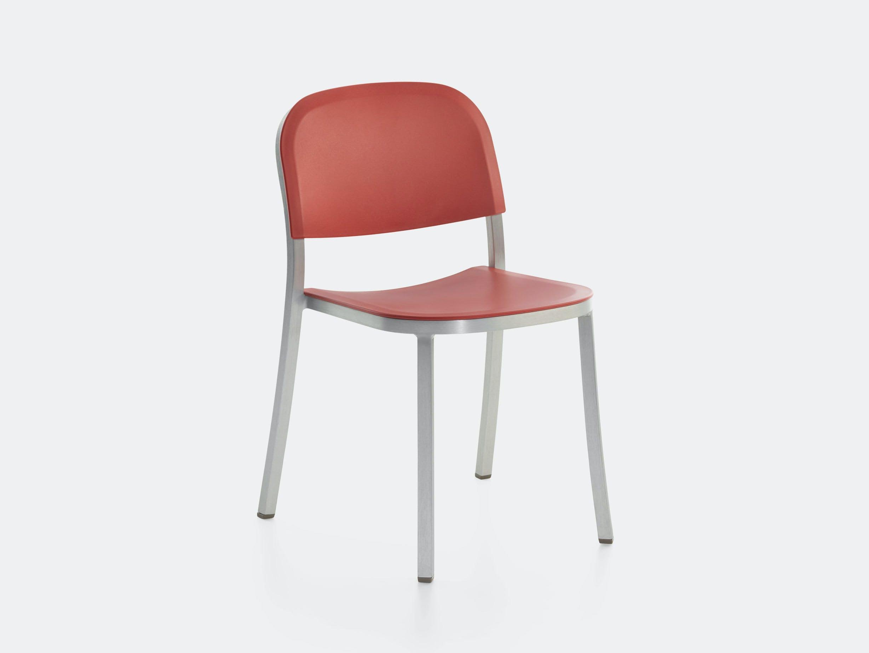 Emeco 1 Inch Chair Aluminium Red Ochre Jasper Morrison