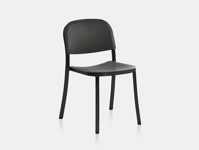 Emeco 1 Inch Chair Black PC Aluminium Dark Grey Jasper Morrison