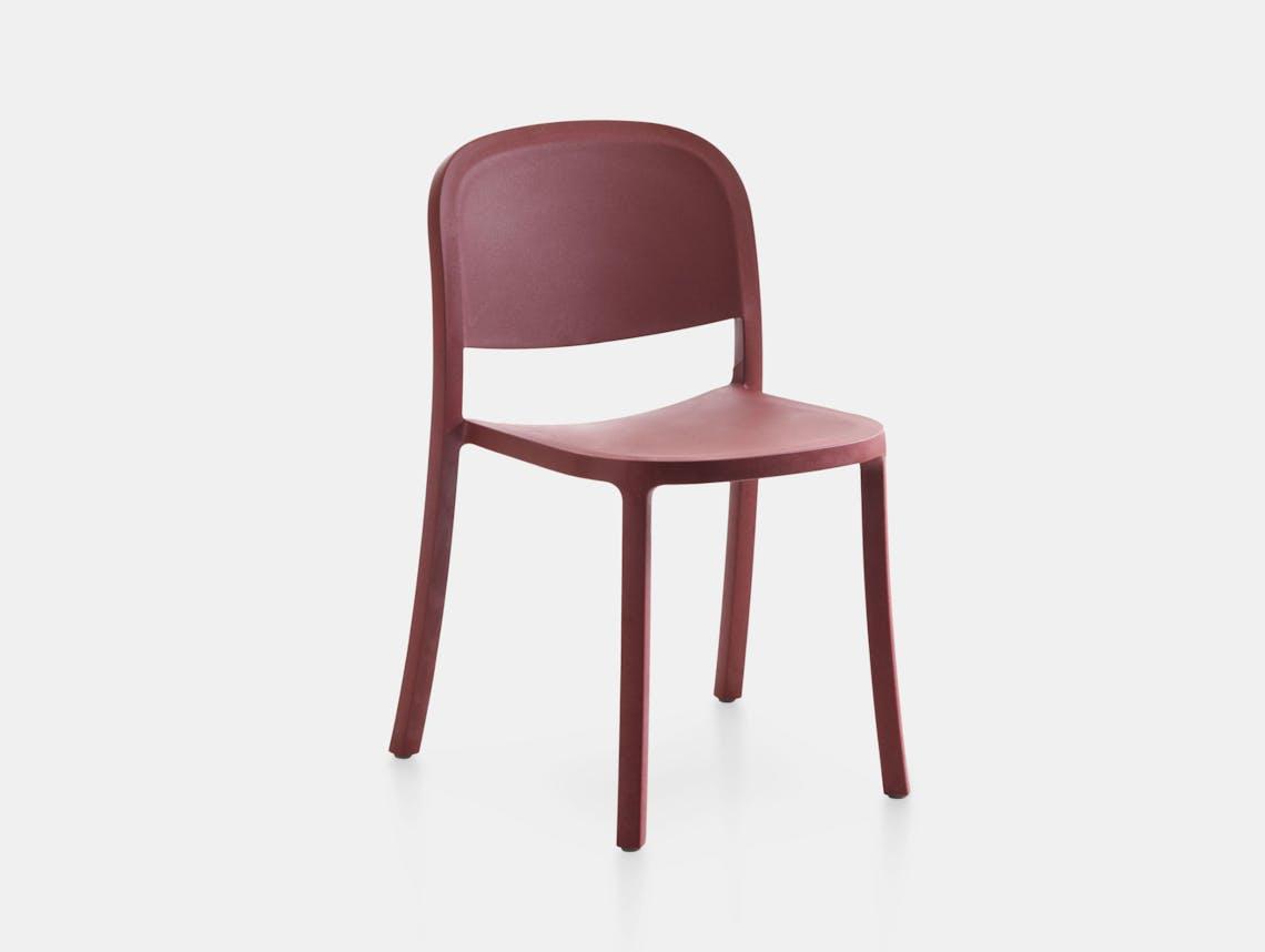 Emeco 1 Inch Reclaimed Chair Bordeaux Jasper Morrison
