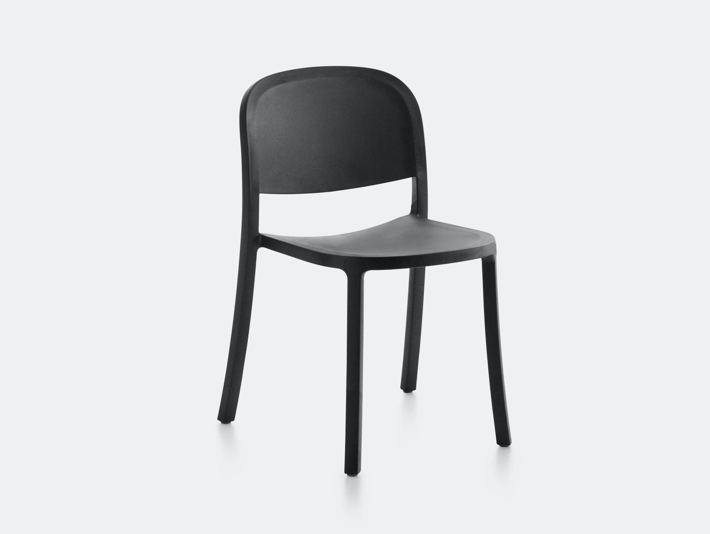 Emeco 1 Inch Reclaimed Chair Dark Grey Jasper Morrison