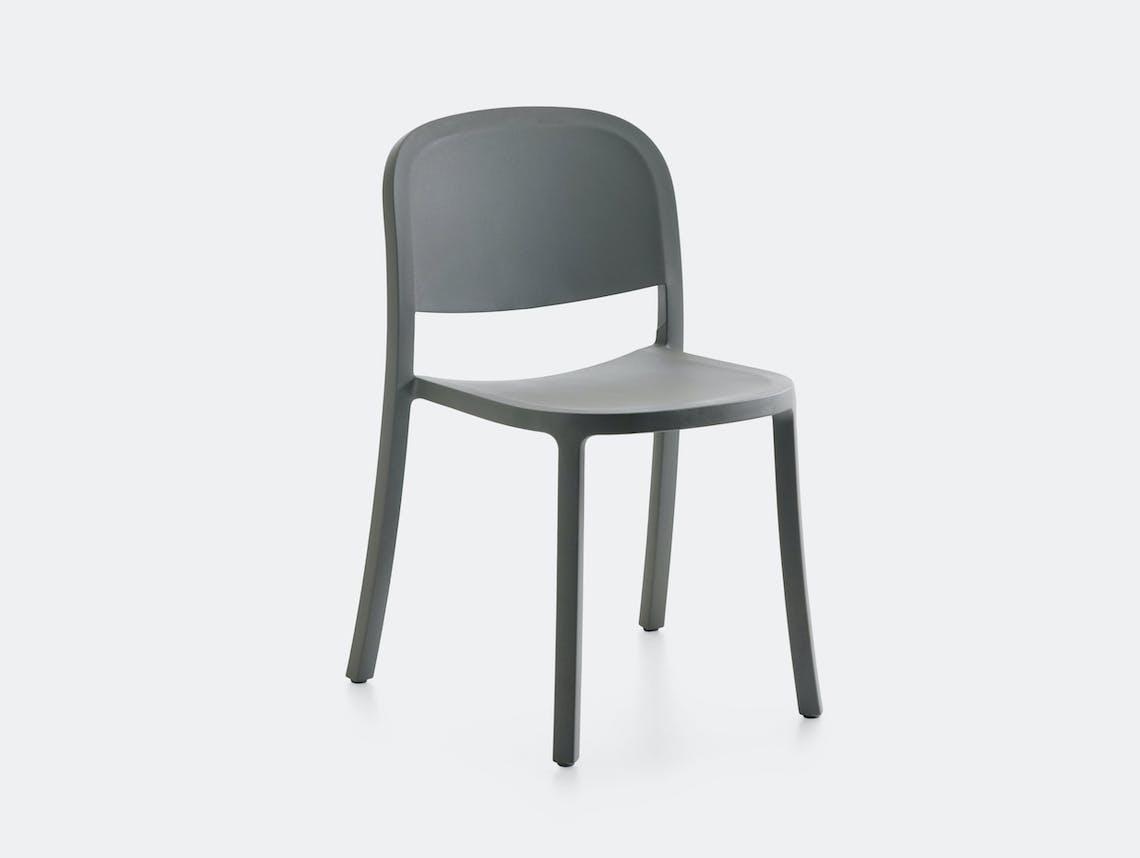 Emeco 1 Inch Reclaimed Chair Light Grey Jasper Morrison