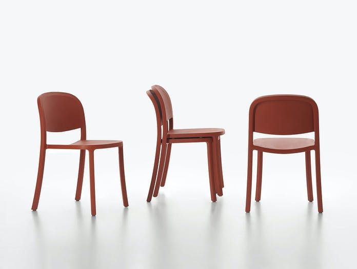 Emeco 1 Inch Reclaimed Chairs Stacked Jasper Morrison