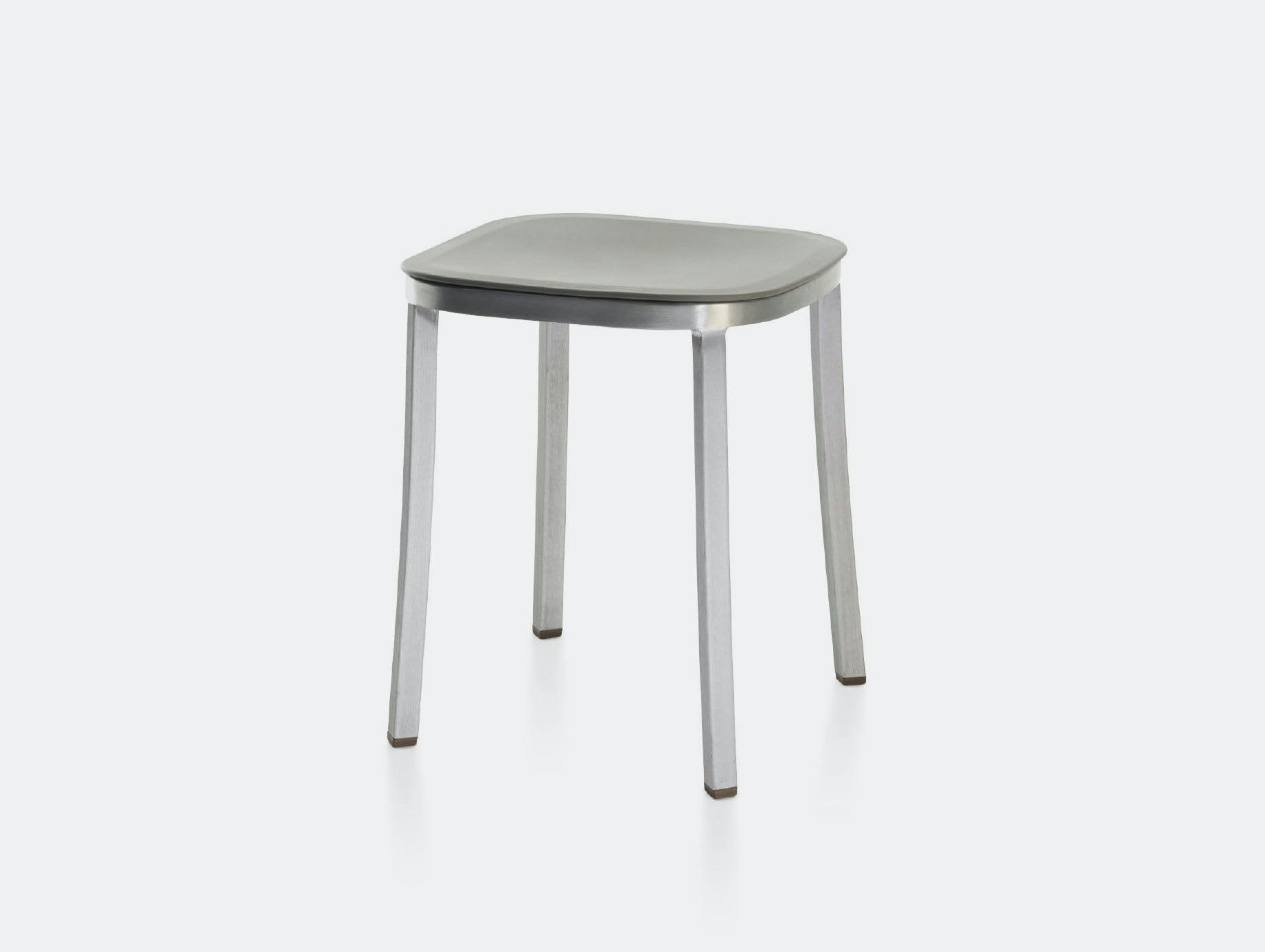 Emeco 1 Inch Small Stool light grey Jasper Morrison