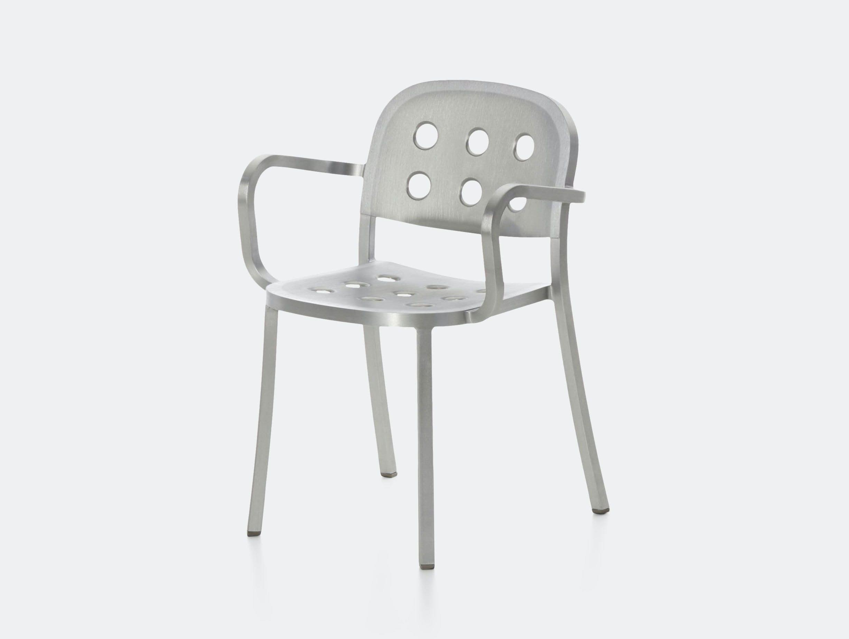 Emeco 1 inch all aluminium armchair 1 jasper morrison
