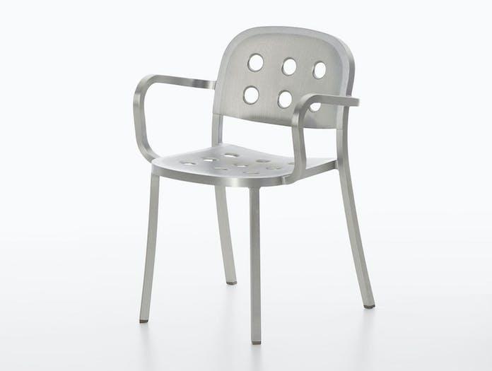 Emeco 1 inch all aluminium armchair 2 jasper morrison