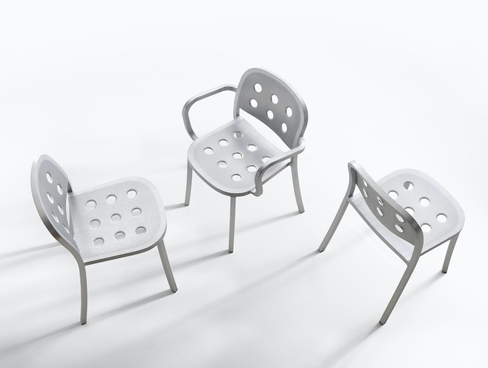 Emeco 1 inch all aluminium chairs jasper morrison