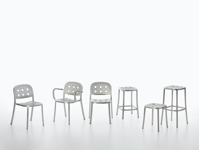 Emeco 1 inch all aluminium collection jasper morrison