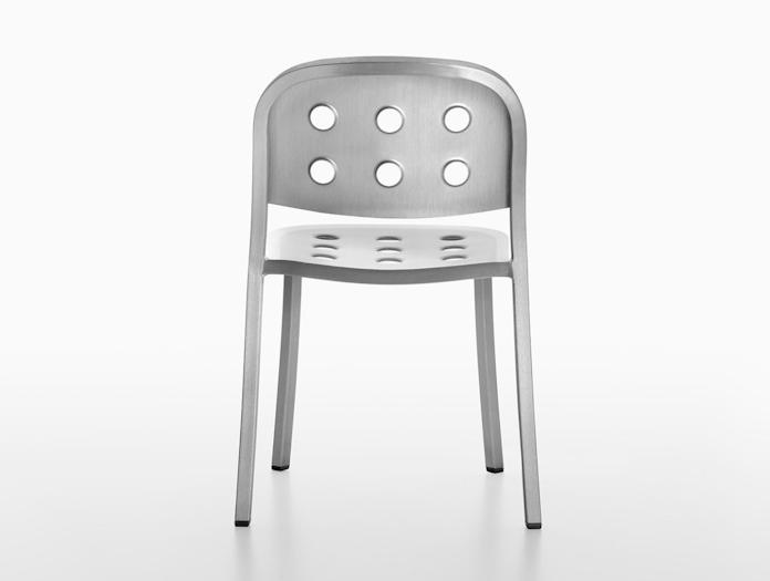 Emeco 1 inch all aluminium jasper morrison back detail