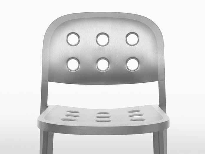 Emeco 1 inch all aluminium jasper morrison detail