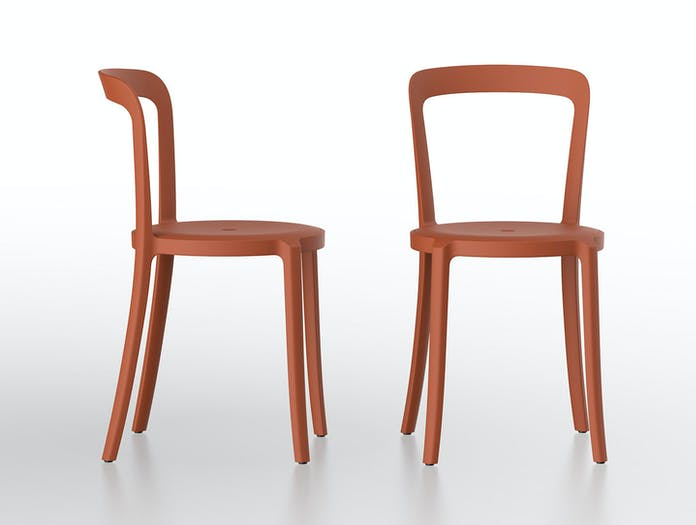 Emeco On and On Chairs orange Edward Barber Jay Osgerby
