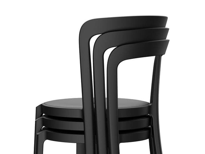 Emeco On and On Chairs stack detail Edward Barber Jay Osgerby