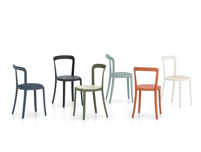 Emeco On and On Chairs uphol wood seats Edward Barber Jay Osgerby