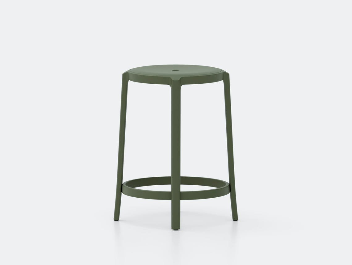 Emeco On and On Counter Stool green Edward Barber Jay Osgerby
