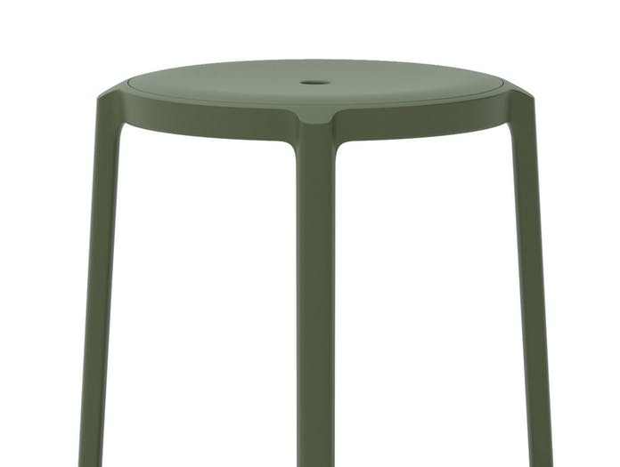 Emeco On and On Stool green detail Edward Barber Jay Osgerby