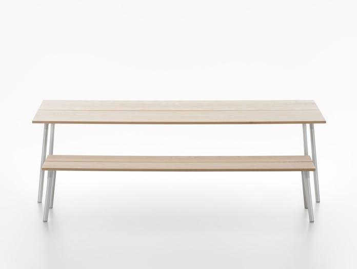 Emeco Run Ash Table and Bench