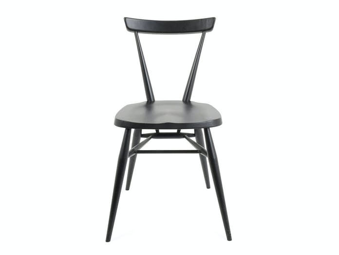 Ercol Originals Stacking Chair black front