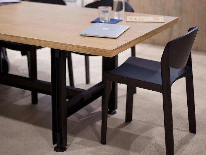 Established and Sons Beam Table oak black frame Konstantin Grcic