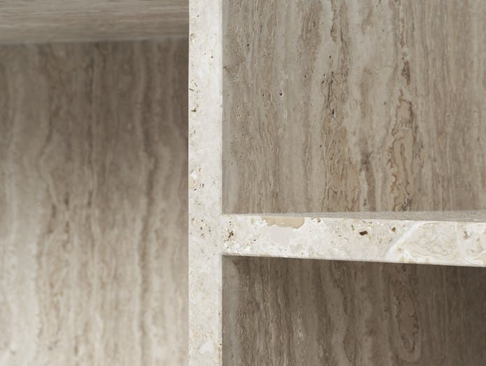 Ferm Distinct Coffee Table travertine detail 1