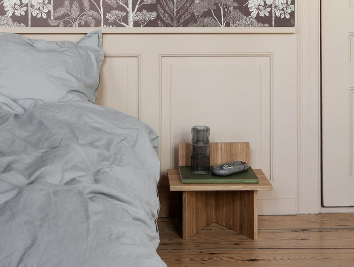 Ferm Living Oblique Stool Bedside Table oak