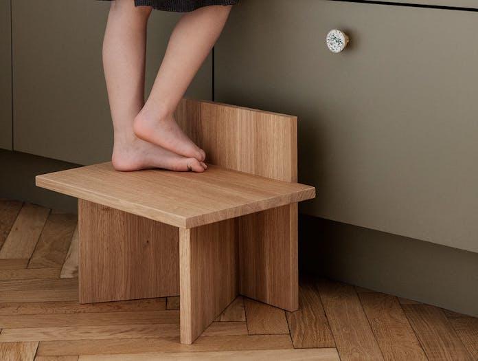 Ferm Living Oblique kitchen stool oak