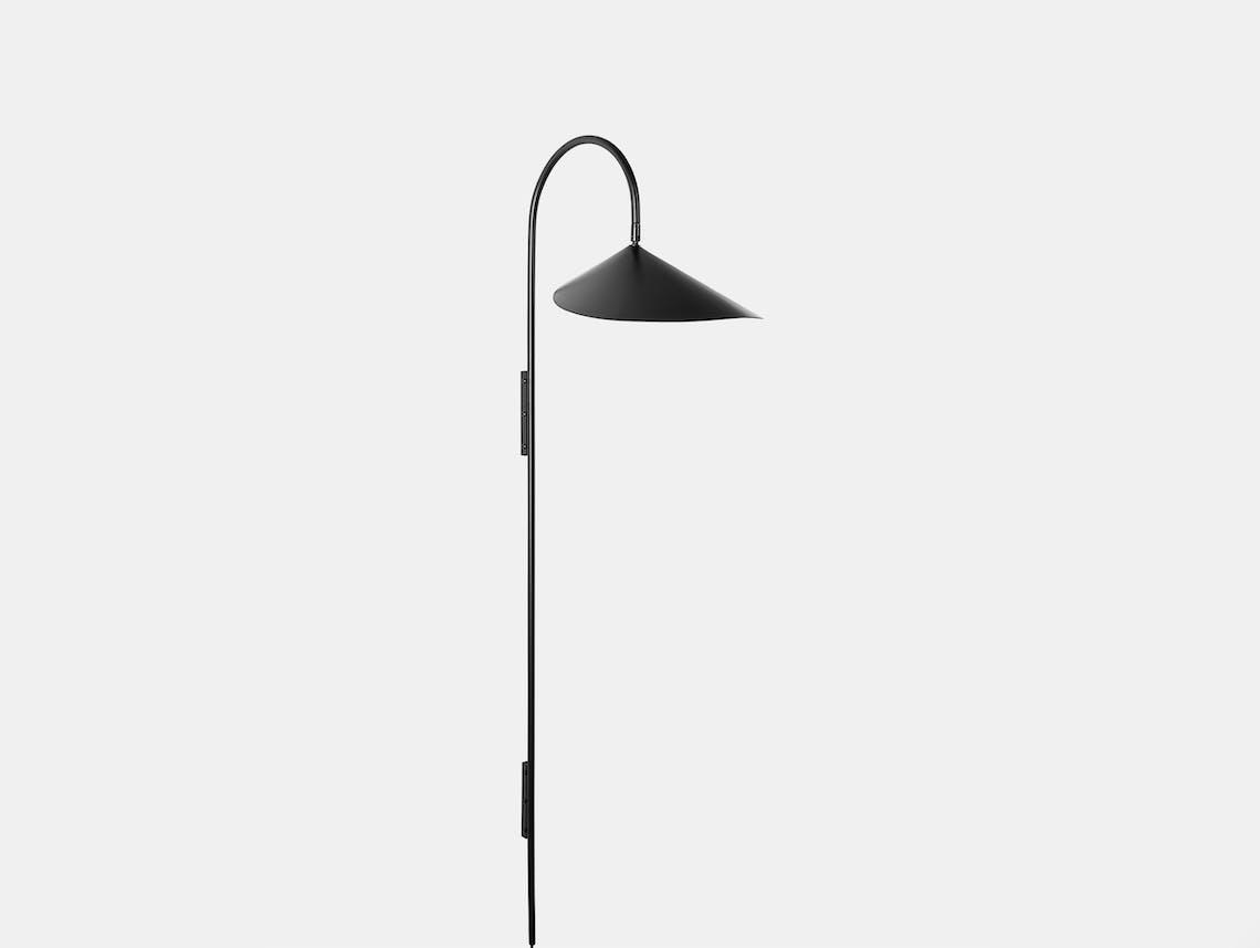 Fer living arum tall wall lamp blk