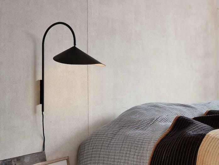 Fer living arum small wall lamp blk ls2