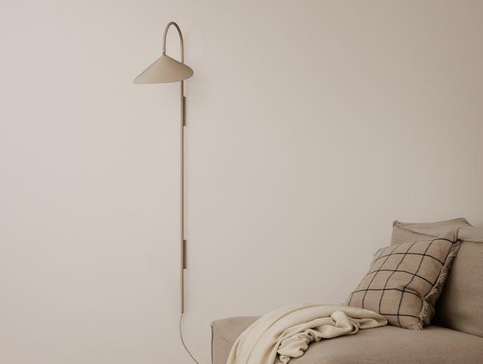 Ferm living arum tall wall lamp cashmere ls