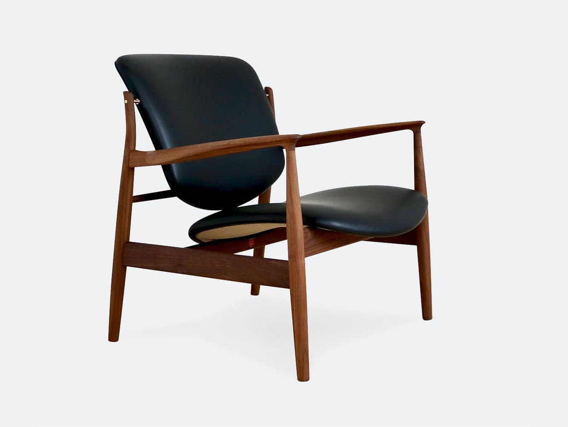 Finn juhl france chair black leather