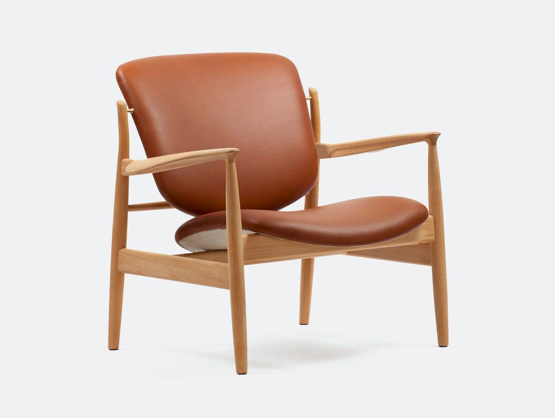 Finn juhl france chair brown leather