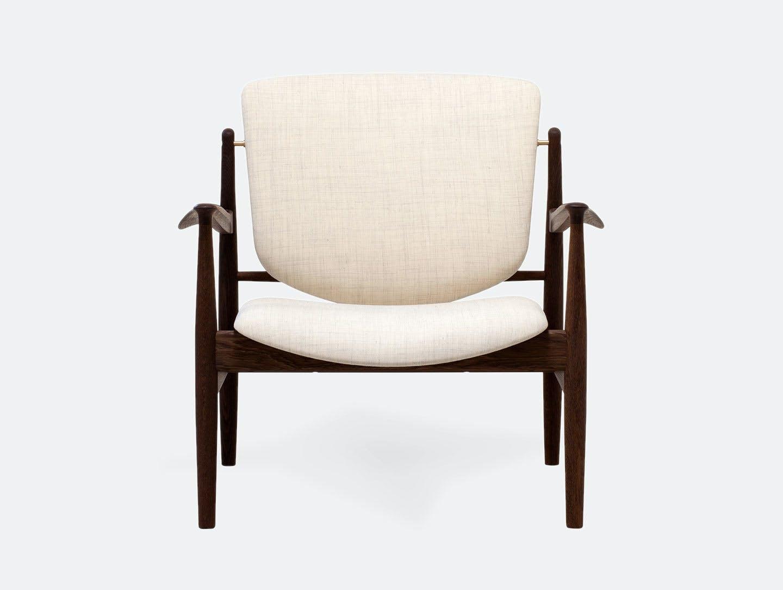Finn juhl france chair ivory fabric